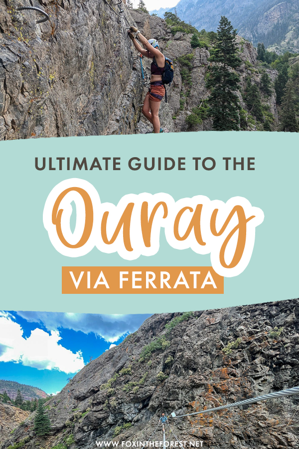 The Ouray Via Ferrata is one of the coolest things to do in Colorado. If you're creating an Ouray bucket list for your visit, here's everything you need to know about the Ouray Via Ferrata!