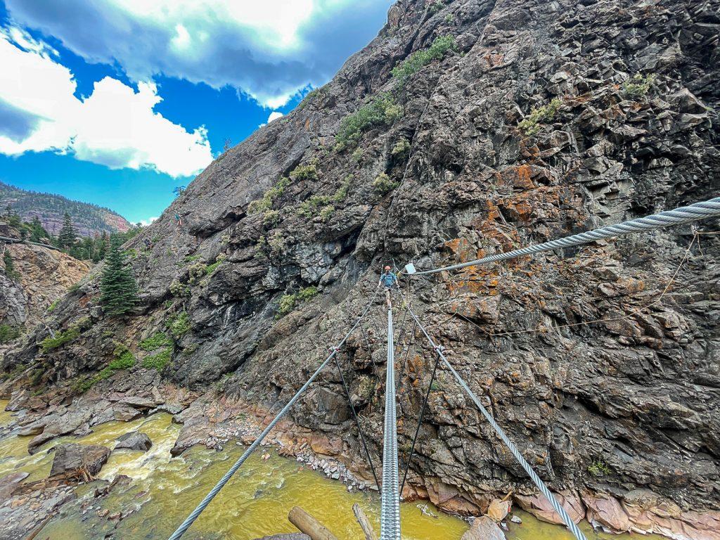 Via ferrata route in Ouray