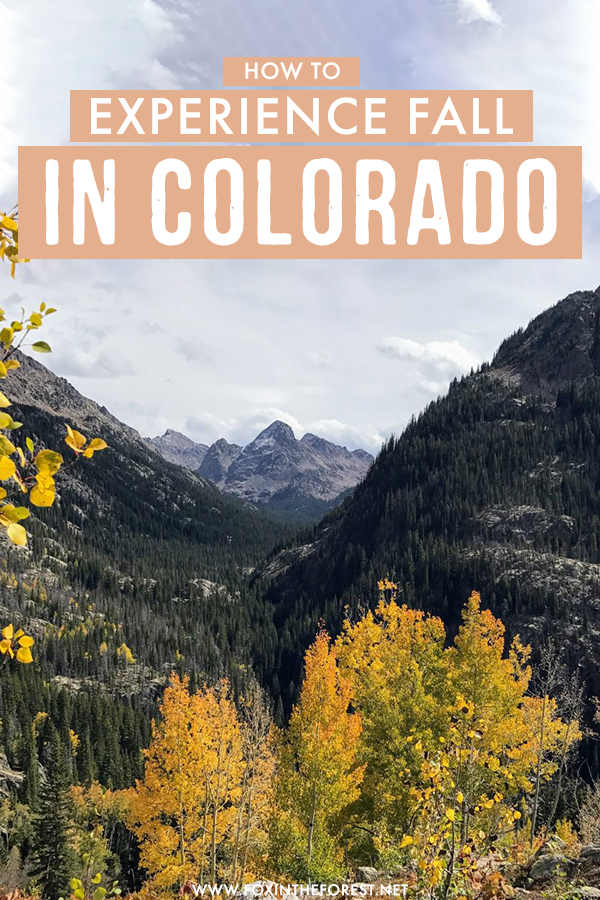 Fall in Colorado is a once in a lifetime experience. If you're looking for the best fall destinations in the USA for fall foliage and gorgeous landscapes, you need to consider experiencing fall in Colorado!