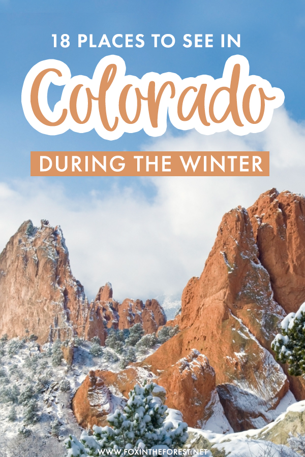 Whether you're looking for a fun Denver getaway or looking to travel to Colorado in winter and see the best it has to offer, here are 18 awesome places to see in Colorado in winter so beautiful you won't believe!