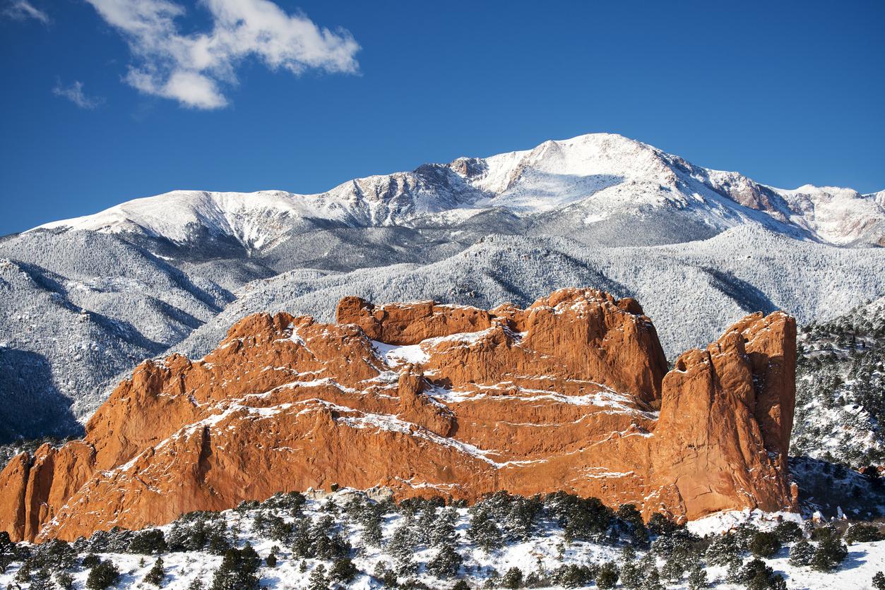 Colorado springs in winter